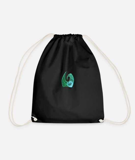 Warrior Bags & Backpacks - Tatoo Art Anchor Heart - Drawstring Bag black