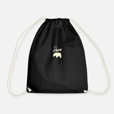 The great gift for dad the cuddly bear - - Drawstring Bag