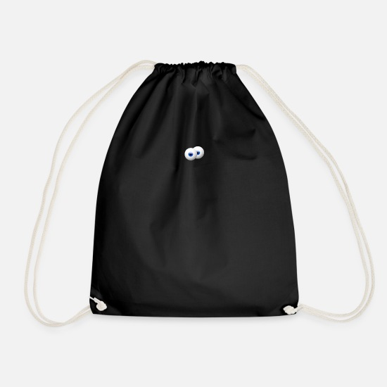 Iris Bags & Backpacks - starring eye, eyes - Drawstring Bag black