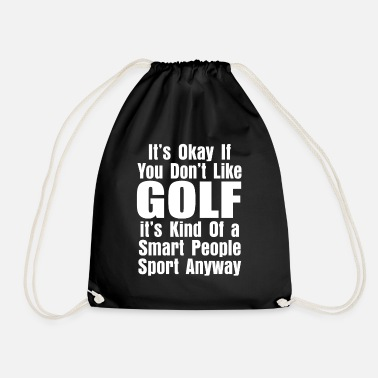 Golf golf - Drawstring Bag