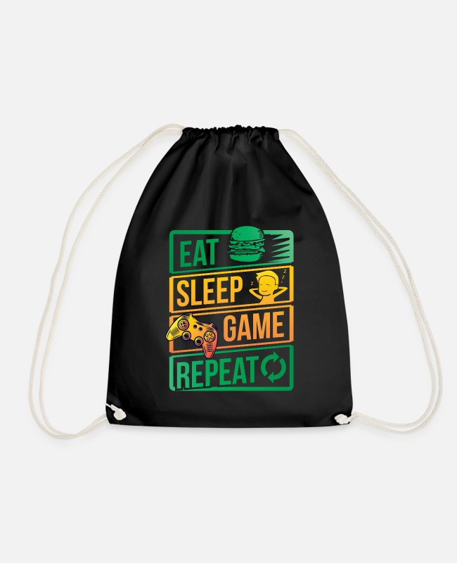Play Bags & Backpacks - Video Game Player Gaming TV Controller - Drawstring Bag black