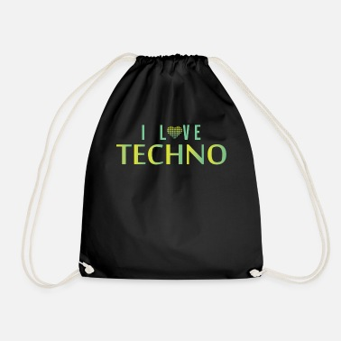I Love Techno I love techno - Drawstring Bag