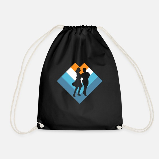 Dance Class Bags & Backpacks - couple - Drawstring Bag black