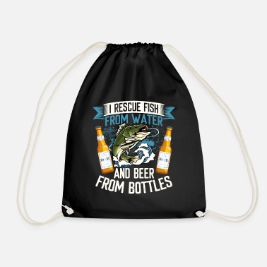Pregnancy I Rescue Fish From Water And Beer From Bottles - Drawstring Bag