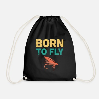 Fly Fishing Flying Fishing Fishing Anglers - Drawstring Bag