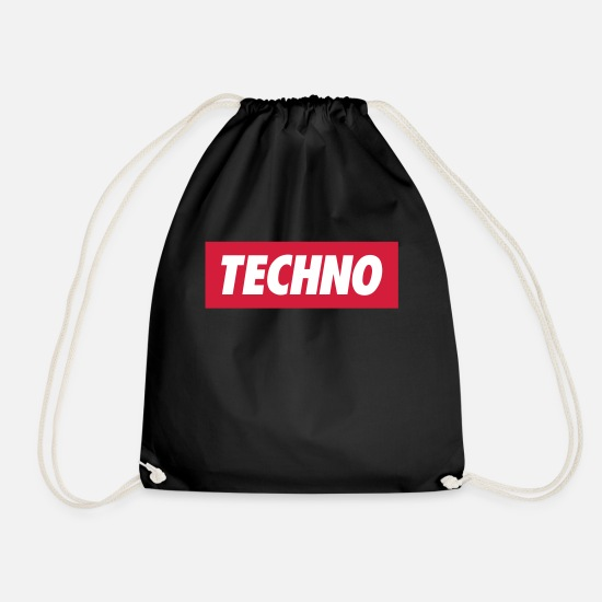 Techno Bags & Backpacks - Techno - Drawstring Bag black