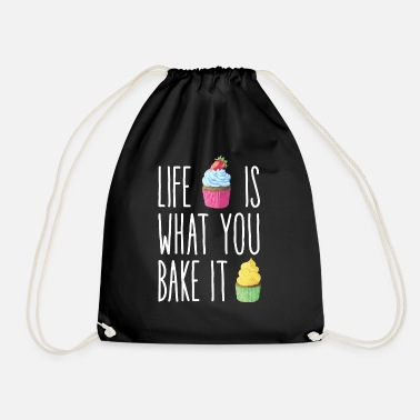 Cupcake Baker Nosh Sweet Cute Cake Baking Present - Drawstring Bag