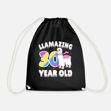 Llama 30th Birthday Thirty Year Old Present - Drawstring Bag