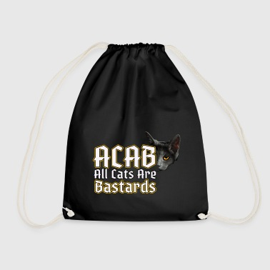 All Cats Are - ACAB - Drawstring Bag