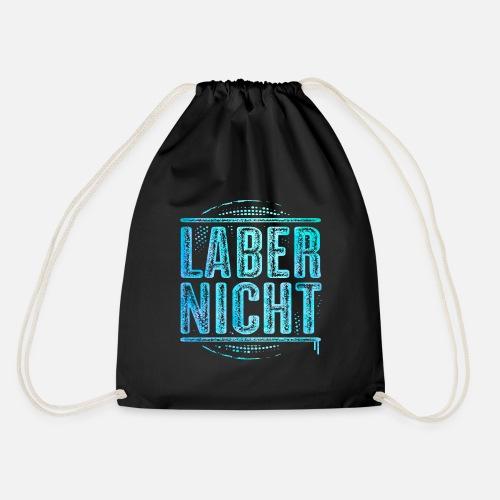 da572cc746eb7 Weihnachten Taschen   Rucksäcke - Laber nicht - Lustiger Spruch - Turnbeutel  Schwarz. Personalisieren