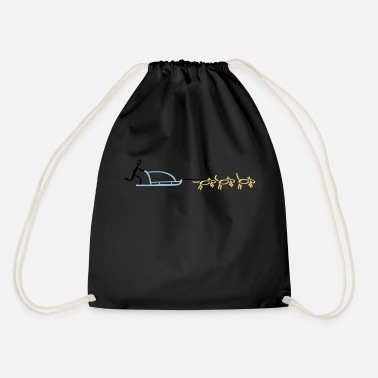 Musher Dog Sled Dog Sports - Drawstring Bag