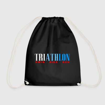 TRIATHLON - SWIN BIKE RUN - Triathlete - Drawstring Bag