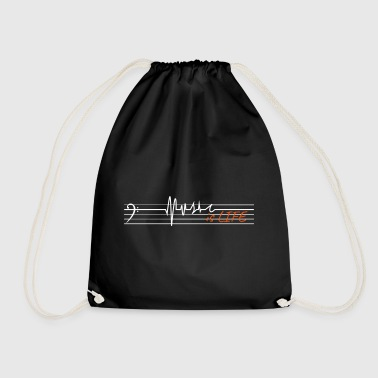 Music is life - bass clef - Drawstring Bag