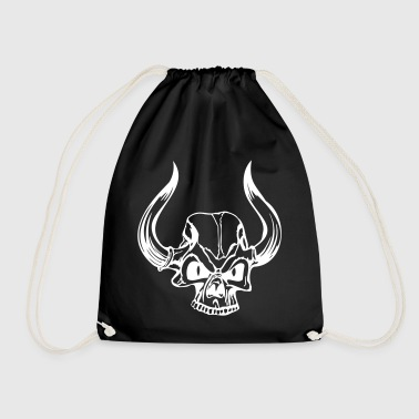 horns skull - Drawstring Bag