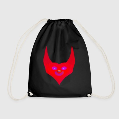 heart horns devil satan abstract - Drawstring Bag