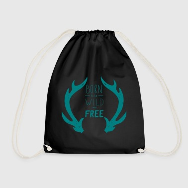 born wild free - Drawstring Bag