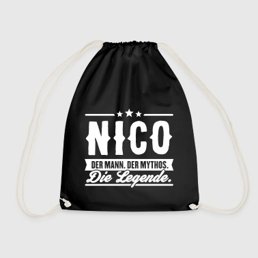 Man Myth Legend Nico - Drawstring Bag