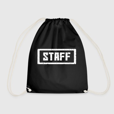 Staff stamp white - Drawstring Bag