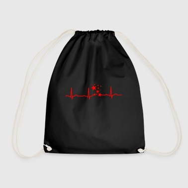GIFT - ECG HERZLINIE STAR STAR Red - Drawstring Bag