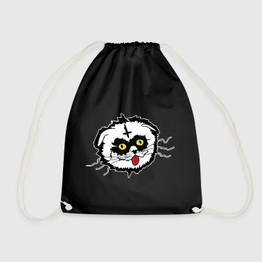 Black Metal Derp Cat - Drawstring Bag
