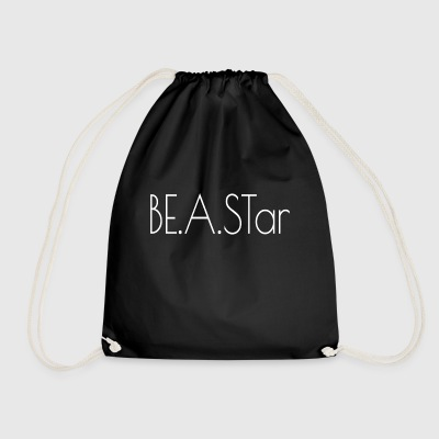 BEASTar text white - Drawstring Bag
