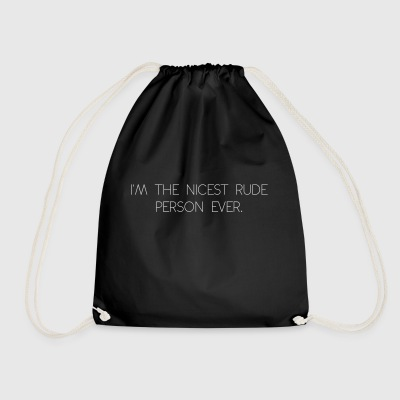 rude person - Drawstring Bag