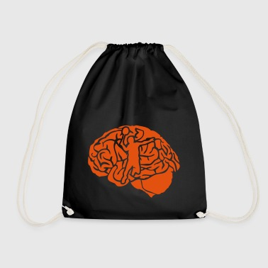 badminton brain brain cervello cerebro - Drawstring Bag