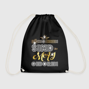 May - Queen - birthday 3 - Drawstring Bag