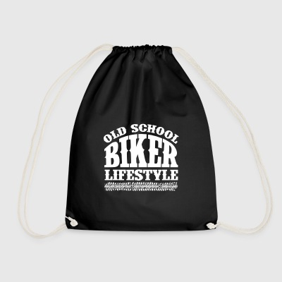 Old School Biker - Drawstring Bag