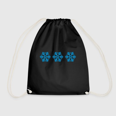 snowflakes - Drawstring Bag