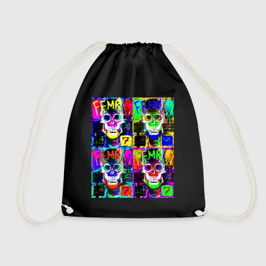 pop art capitan - Drawstring Bag