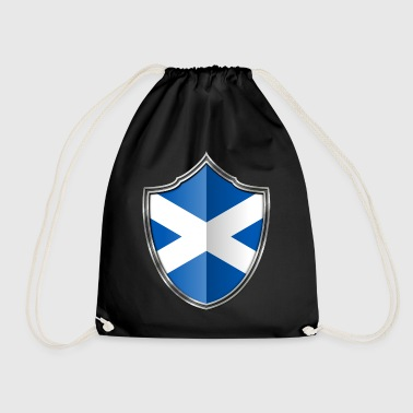Scotland Flag Coat of Arms Silver 015 - Drawstring Bag