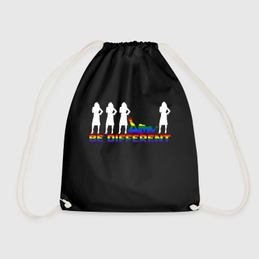 Gay Pride - Frauen - Be different - Drawstring Bag