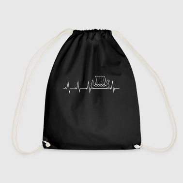 Viking - heartbeat - dragon boat - Drawstring Bag