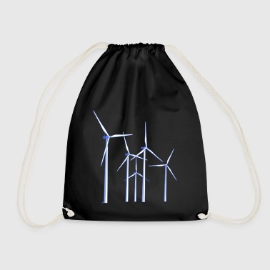 wind turbines - Drawstring Bag