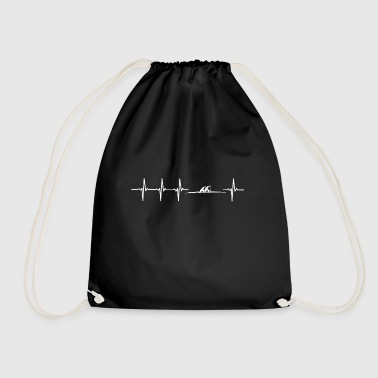 I love rowing (rowing heartbeat) - Drawstring Bag