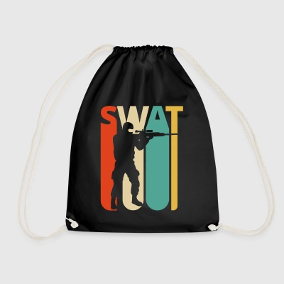 Vintage Retro Swat Team. CO19. Swat Officer Gifts - Worek gimnastyczny