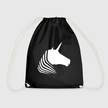 JobUnicorn Unicorn head - Drawstring Bag