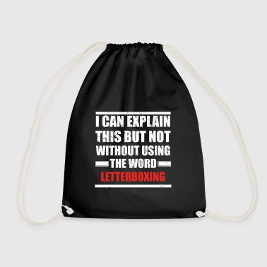 Can explain word hobby love LETTER BOXING - Drawstring Bag