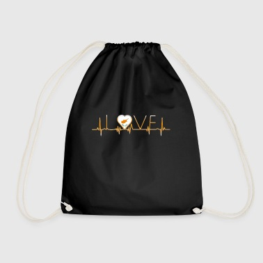 home roots home love heart from Cyprus - Drawstring Bag
