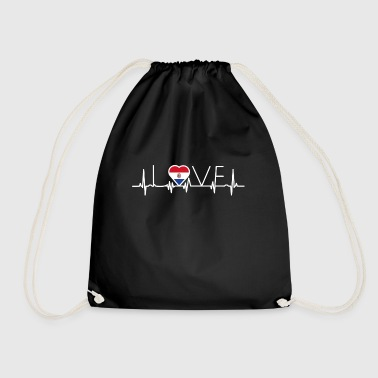 home roots queen love from heart Paraguay png - Drawstring Bag