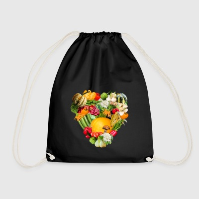 avocado halloween vegetables vegetables9 - Drawstring Bag