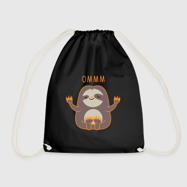 meditating sloth - Drawstring Bag