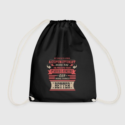 Acupuncturist Acupuncturist Uncle Funcle - Drawstring Bag