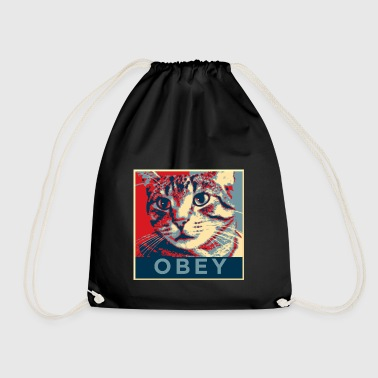 Obey the Cat! - Drawstring Bag