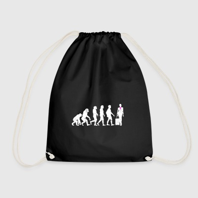 Stewardess Evolution gift flight attendant flight - Drawstring Bag