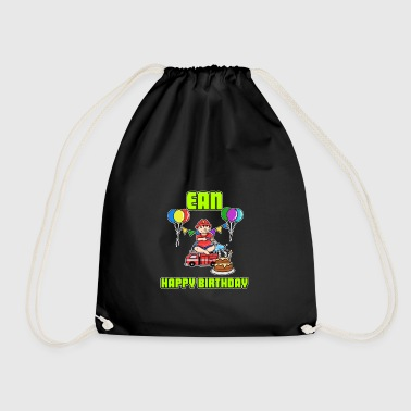 Birthday Firefighter Record Name Gift Birthd - Drawstring Bag