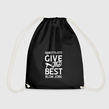 Hairstylist give the best blow weiss - Drawstring Bag