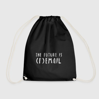 Female Future Email Internet future gift idea - Drawstring Bag