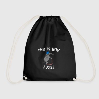 This is how I roll elephant saying gift idea - Drawstring Bag